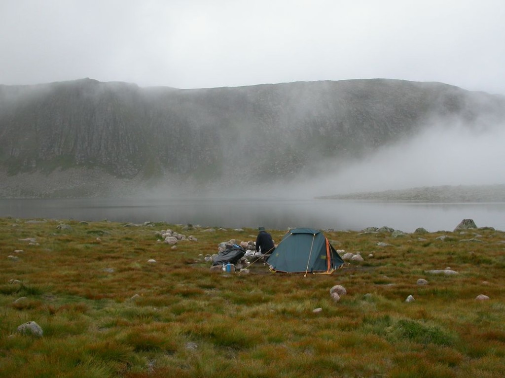 High level camp at Loch Etchachan
