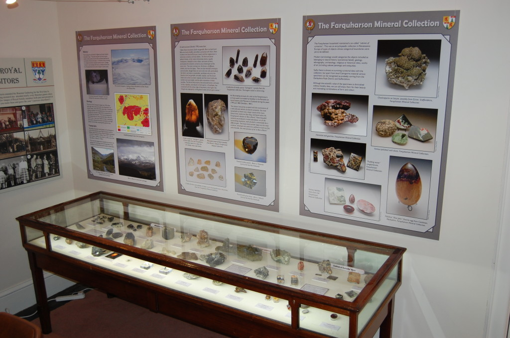 Farquharson of Invercauld Mineral Collection Display