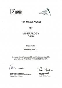 The Marsh Award for Mineralogy (2016)