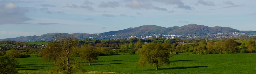 The Malvern Hills viewed from the northeast